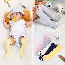0-3T 2016 NEW Boys Girls Knee Socks Baby Knee Highs Four Color Stripe Child Sock Solid  Stocking Kids Cotton Enfants