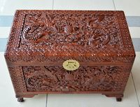 Wooden box wooden suitcase and camphor insect box containing gift box and marriage dowry box