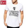 Camisas Dos Homens T de Game of Thrones é O Que Eu Faço para Beber e Eu sei que As Coisas Impresso Verão Casual Estilo Hip Hop camiseta de Algodão X524