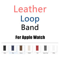 Luxury Design Leather Loop Band With Connector Adapter For IWatch 38MM 42MM Strap For IWatch Band