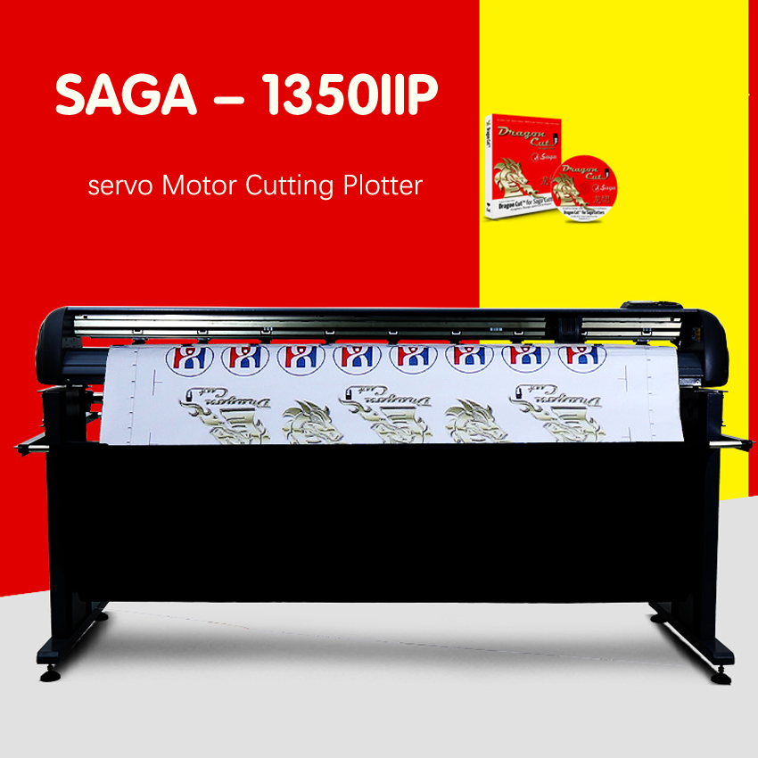 1 PC SAGA - 1350IIP servo Motor Cutting Plotter Model Plotter - Elektronik kantor - Foto 1