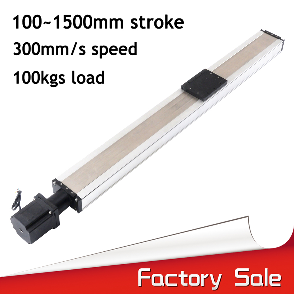 Threaded rod 800mm linear guide rail with motor and ball screw for cnc ball screw linear module for 3d printer robotic arm kit