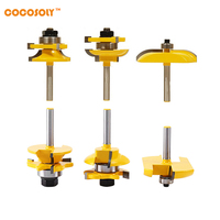 Cocosoly 3pcs Set High Quality 1 4 Shank Ogee Raised Panel And Rail Stile Router Bits