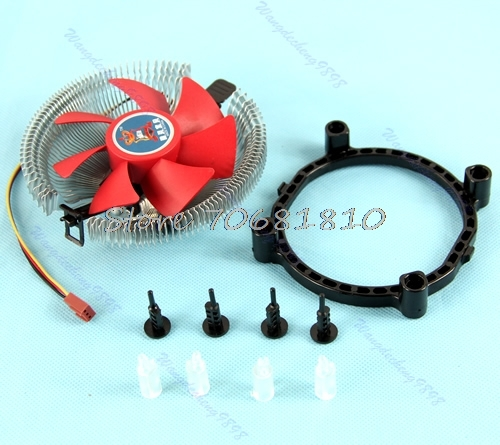 New PC CPU Cooling Fan Cooler Heatsink For Intel LGA775 AM2 AM3 754 939 940 #C77# Dropship new original cpu cooling fan heatsink for asus k42 k42d k42dr a40d x42d cpu cooler radiators laptop cooling fan heatsink