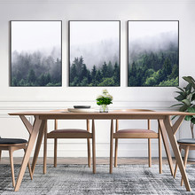 Wall Art Canvas Painting HD Prints Decor Mountain Forest Landscape Nordic Posters Nursery Picture Kids Bedroom For Baby Room(China)