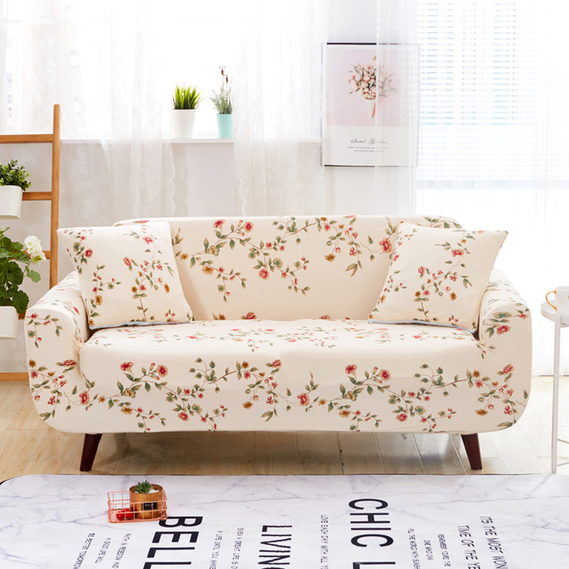 Floral Pattern Universal Elastic Stretch Sofa Covers Living Room Couch Slipcovers Cases Spandex Furniture Protector Home Decor