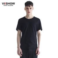 VIISHOW Brand Clothing Cotton T Shirt Men 2016 Famous Brand Design Basic Mens T Shirts Solid