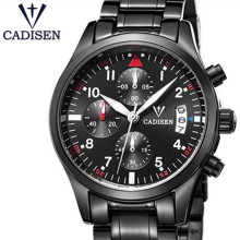 2017 CADISEN Top Brand  Male Clock Men Fashion Casual Wrist Watches Military Steel Waterproof Mens Watch Relogio Masculino