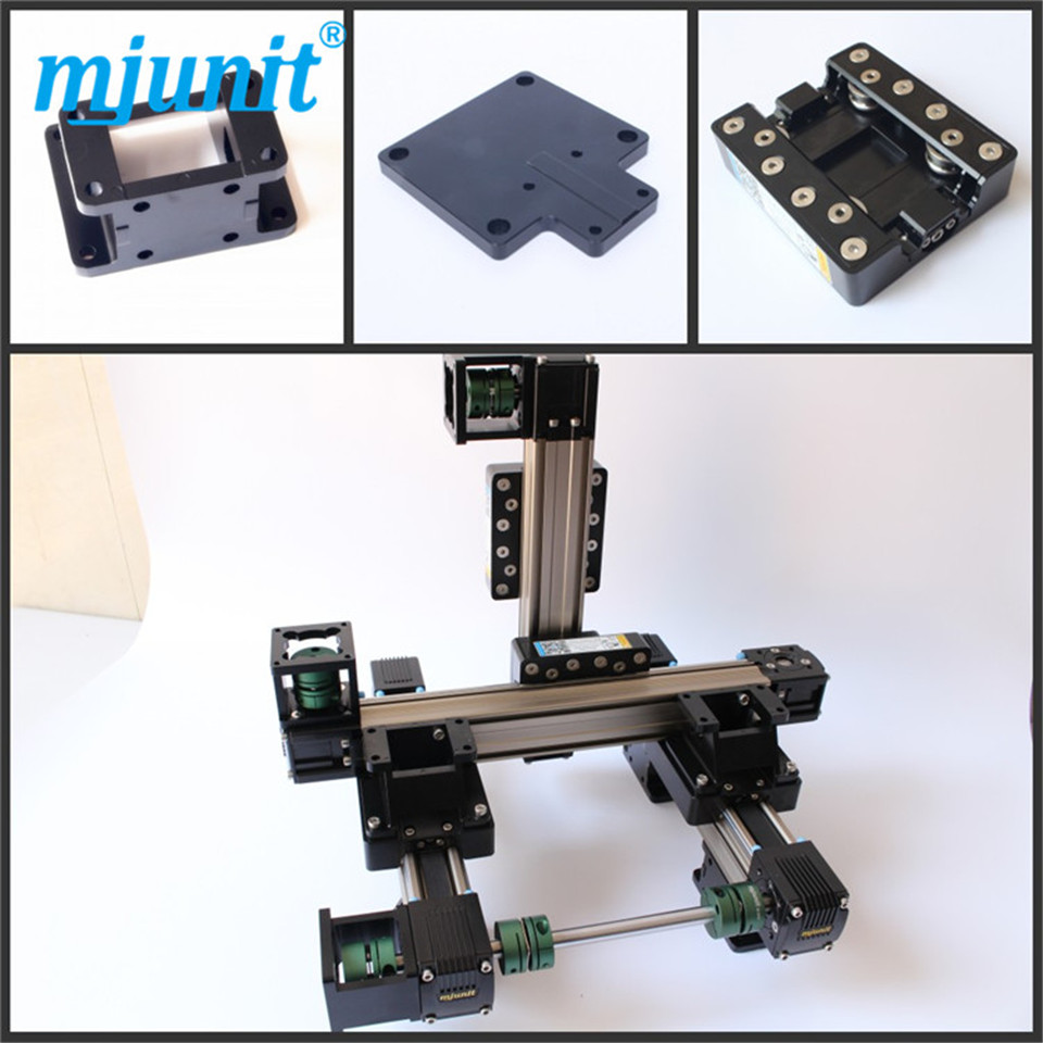 3 Axis Translator/3 axis linear stage/manual linear stage/xyz translation stage crossed roller positioning stage belt driven mechanical linear unit with external roller guides positioning system