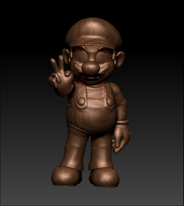 New Model 3D Model For 3D Relief Cnc Machine In STL Format Happy Mario