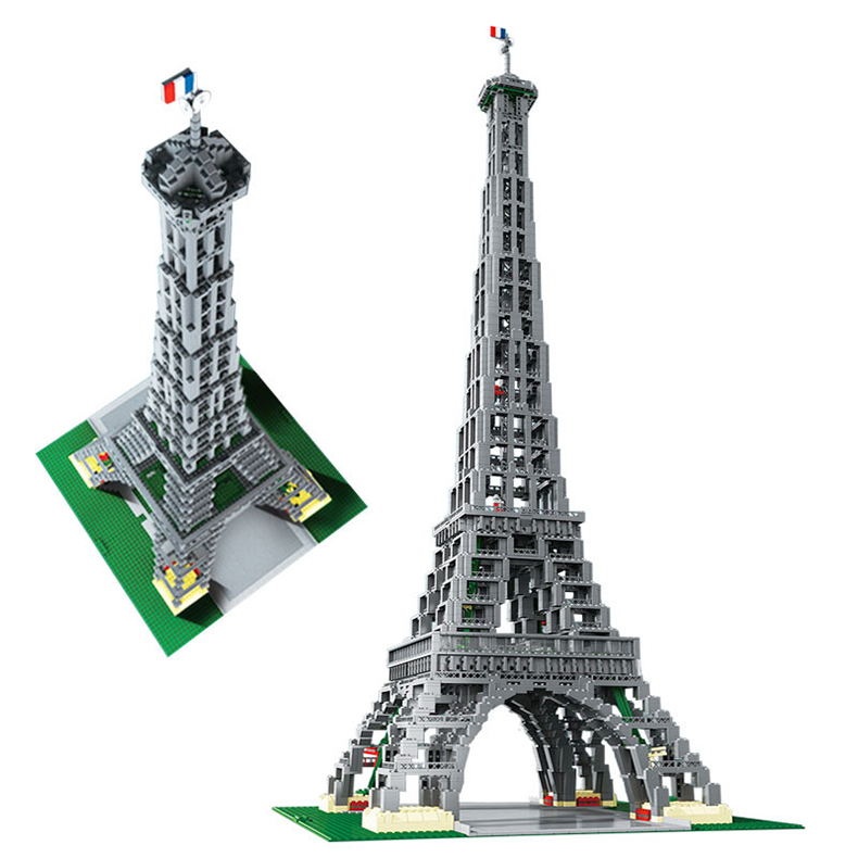 LEPIN 17002 3478pcs City series The Paris Eiffel Tower Model Building Block Bricks For Children Toys Compatible With LEPIN compatible lepin city block police dog unit 60045 building bricks bela 10419 policeman toys for children 011