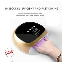 Professional Brand 52W Quickly Dry Nail Lamps LED Nail Dryer For Manicure Tools Nails Gel Machine Polish Lamp High Quality(China)