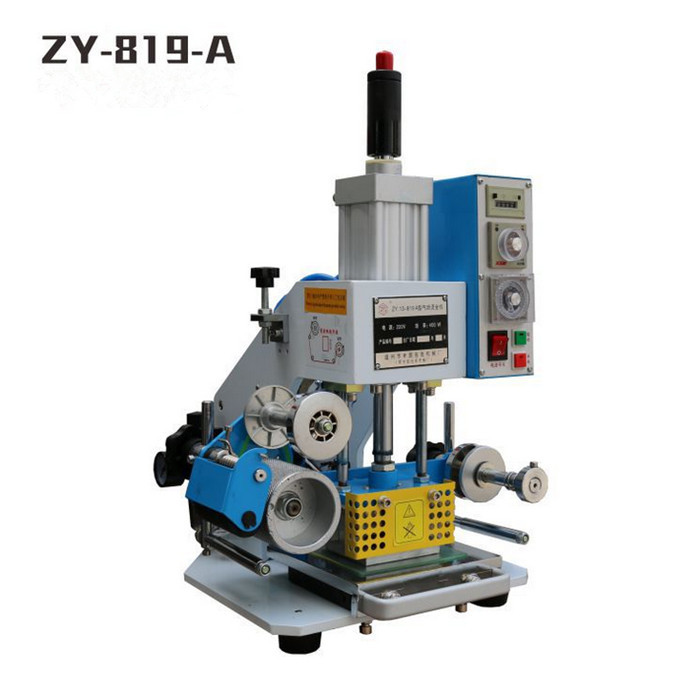 ZY 819 A Pneumatic Stamping Machine,leather LOGO printer,pressure words machine,LOGO stampler,stamping machine