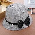 2016 nuevo sombrero de verano de moda de Corea perla arco visera del sombrero de sun de la fábrica