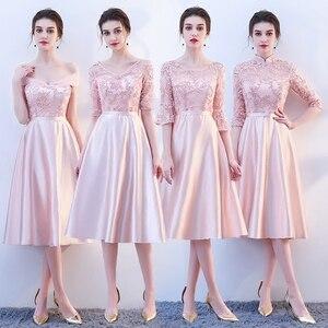 Image 1 - Neue rosa fee süße dame mädchen frauen prinzessin brautjungfer bankett party ball kleid kleid freies verschiffen