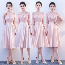 New pink fairy sweet lady girl women princess bridesmaid banquet party ball dress gown free shipping