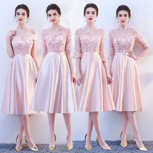 Image 1 - New pink fairy sweet lady girl women princess bridesmaid banquet party ball dress gown free shipping