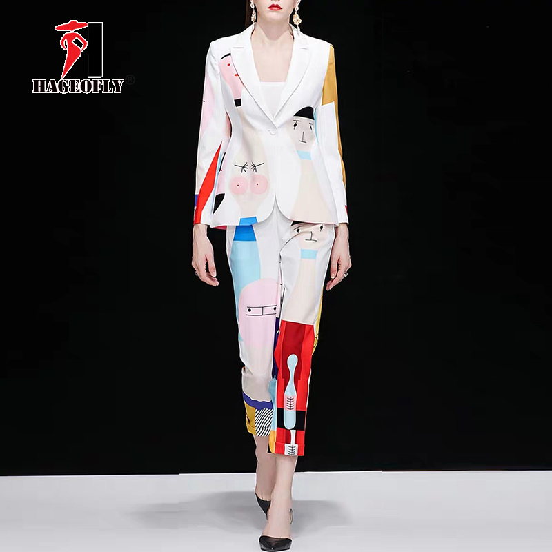 Image 2 - New Designer High Quality Runway White Two piece Suit One Button 