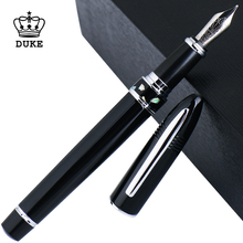 Duke Classic Fountain Pen 911 Big Shark Shape Black Pattern Nib Full Metal Iridium Medium Nib Writing Pen for Business Office high quality classic deign hero 200 gold nib fountain pen business executive good writing pen