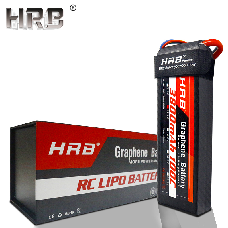 HRB 3800mah Graphene 7 4V 11 1V Lipo Battery 2S 3S 4S 100C 14 8V XT90