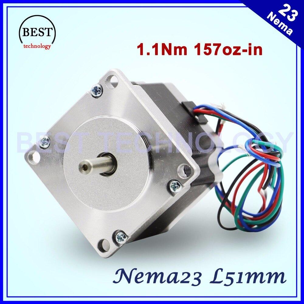 NEMA23 schrittmotor 57X51mm 2.8A 1.1N.m stepping motor 157Oz-in Nema 23 CNC für router gravur fräsen maschine 3D drucker