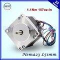 NEMA23 шагового двигателя 57X51 мм 2.8A 1.1N.m 157Oz-in шаговый двигатель Nema 23 С ЧПУ для гравировки маршрутизатора фрезерный станок 3D принтер