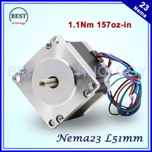 NEMA23 stepper motor 57X51mm 2.8A 1.1N.m stepping motor 157Oz-in Nema 23 CNC for router engraving milling machine 3D printer