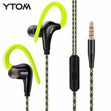 YTOM SPORT Écouteurs Casque auricuares Avec Microphone 3.5mm Jack Bass écouteurs Casque Pour Iphone Samsung sony LG Xiaomi