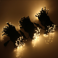 3pcs 10M 100LED 8Modes PVC Wire String Lights Decoration Garden Wedding LED Fairy Strip Lights with Adapter with Tail Plug