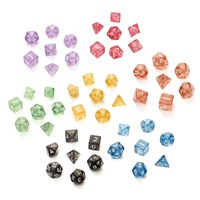 7Pcs/set Glitter Shine TRPG Game Dices For  D4-D20 Multi Sides Dice 4/6/8/10/12/20 SIde Desk Games Accessory