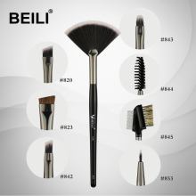 BEILI 1 piece Fan brush  for Eyebrow fan Lip Highlight Eyelash Synthetic hair Single Makeup Brush