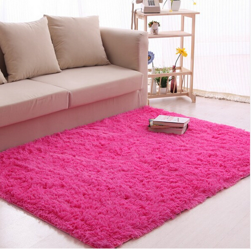 Europe Style Designs Area Rug Red Pink White Shaggy