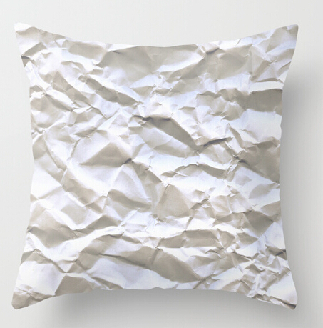 Stylish Vintage Crinkle White Trash Paper Customized Decorative Both Sides  Printed Pillow Covers Square Soft Throw Pillowcases-in Pillow Case from  Home ...