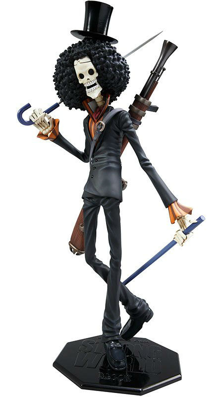 """One Piece Action Figure Brook POP Portait Of Pirates Skeleton Cannon Anime PVC 12"""" Toys Free Shipping"""
