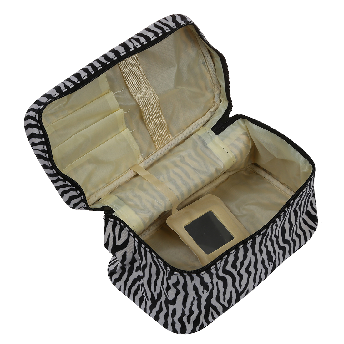 SNNY New Fashion Portable Waterproof Women Makeup Bag Make Up Storage Organizer Box Beauty Case Travel Pouch Zebra hiinst black portable and durable waterproof portable carrying storage aluminum alloy case box for spark drop aug15