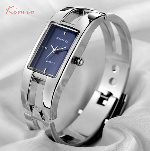 Top KIMIO Brand Relojes Mujer Ladies Watches Luxury Women Dress Stainless Steel Bracelet Quartz Watches Relogio Feminino Clock 2017 luxury brand women watch stainless steel rhinestones bracelet quartz watches fashion ladies dress clock relogio feminino