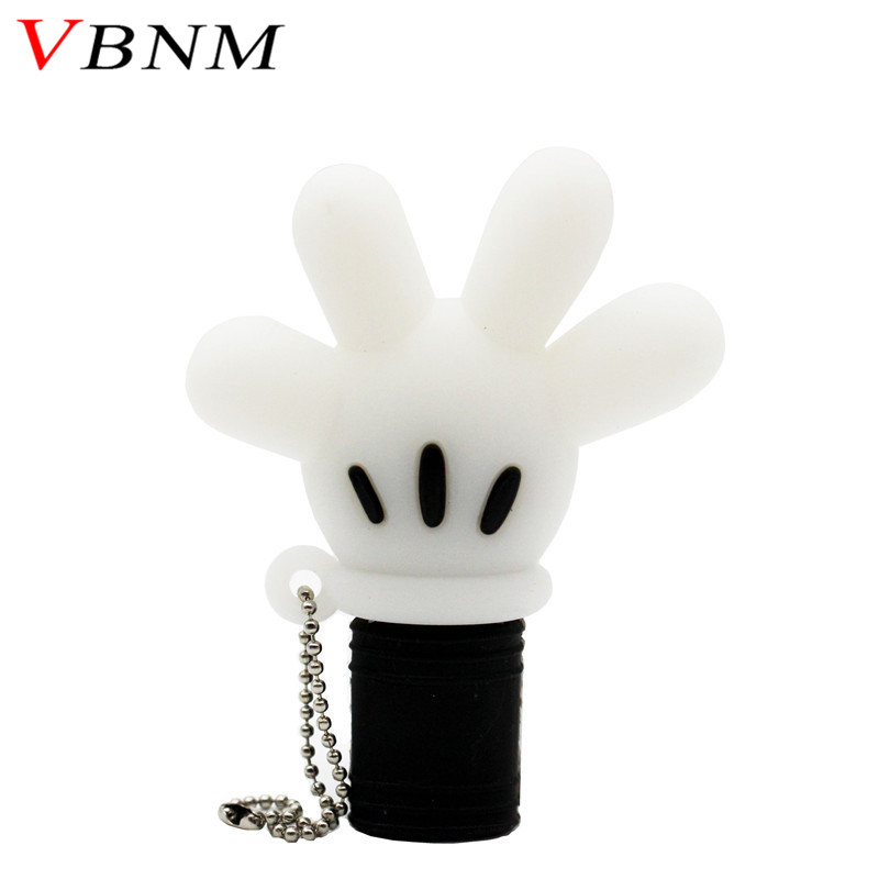 VBNM cute Mickey hand pen drive Mickey Mouse glove usb