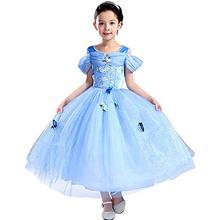 Cinderella Costume Kids Princess Dress for Girls Fancy Halloween Cosplay Party Outfit