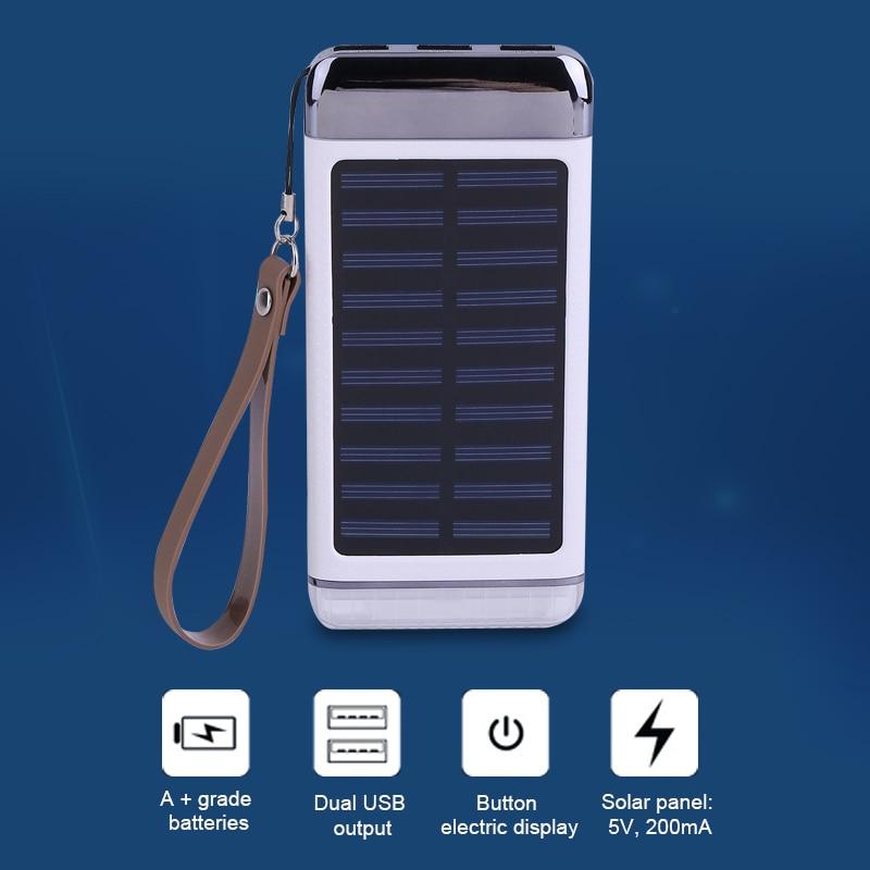 bilder für 8000 mah Solar Ladegerät Power Bank Tragbare Lade Externes Batterie Power Für iphone Für Huawei Handys