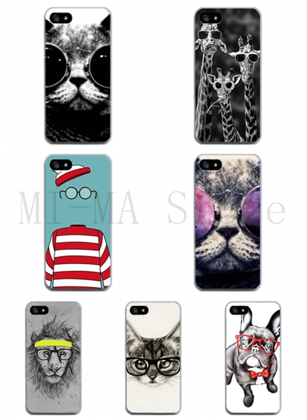 Vintage glass Giraffe Accessories Shockproof Printed TPU Mobile Protector Case Cover For Iphone 5 5S