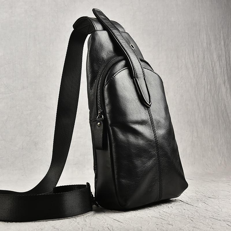 Hohe Einzelnen Herbst Ipad Schulter Pack Tasche Winter Sling Echtem Leder Qualität Herren Taschen Umhängetasche Brust Freizeit fHwS7fqn