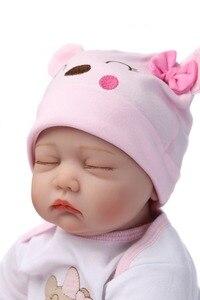 Image 4 - Npk 16 40センチシリコーンビニール生まれ変わった赤ちゃん人形子供遊び人形の家の庭のおもちゃ用ギフト上の誕生日とクリスマス