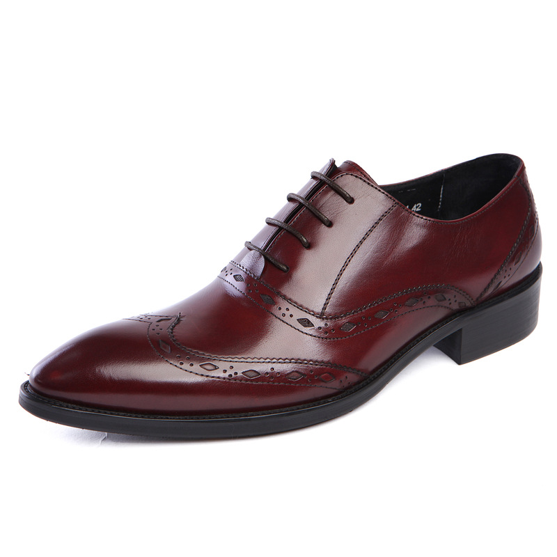 Good Quality Men Wedding Shoes Real Cow Leather Oxfords for Man Pointed Toe Dress Shoes Color Black Brown formal shoes men s pu leather wedding flats new british men shoes fashion man pointed toe formal wedding shoes male dress shoes