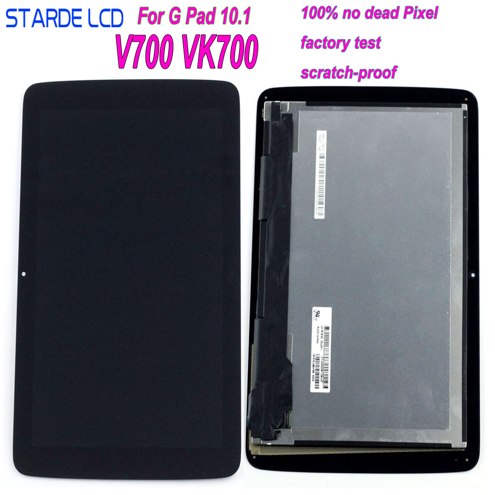 AAA+ For LG G Tablet 10.1 V700 VK700 Wifi Version LCD Display LD101WX2 Touch Screen Digitizer Assembly With Frame V700 LCD