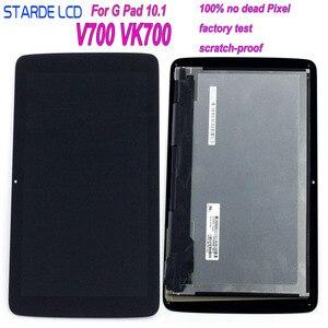 STARDE ЖК-дисплей для LG G Tablet 10,1 V700 VK700 3G Wi-Fi версия ЖК-дисплей Дисплей LD101WX2 Сенсорный экран планшета сборки рамы 10,1