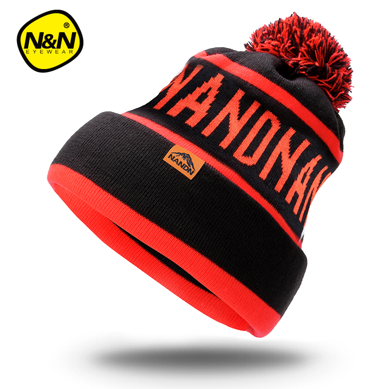 Nandn Winter Snowboard Skiing Skating Warm Knitted Cap Beanies Snap Slouch Skullies Bonnet Beanie Hat Gorro For Men Women