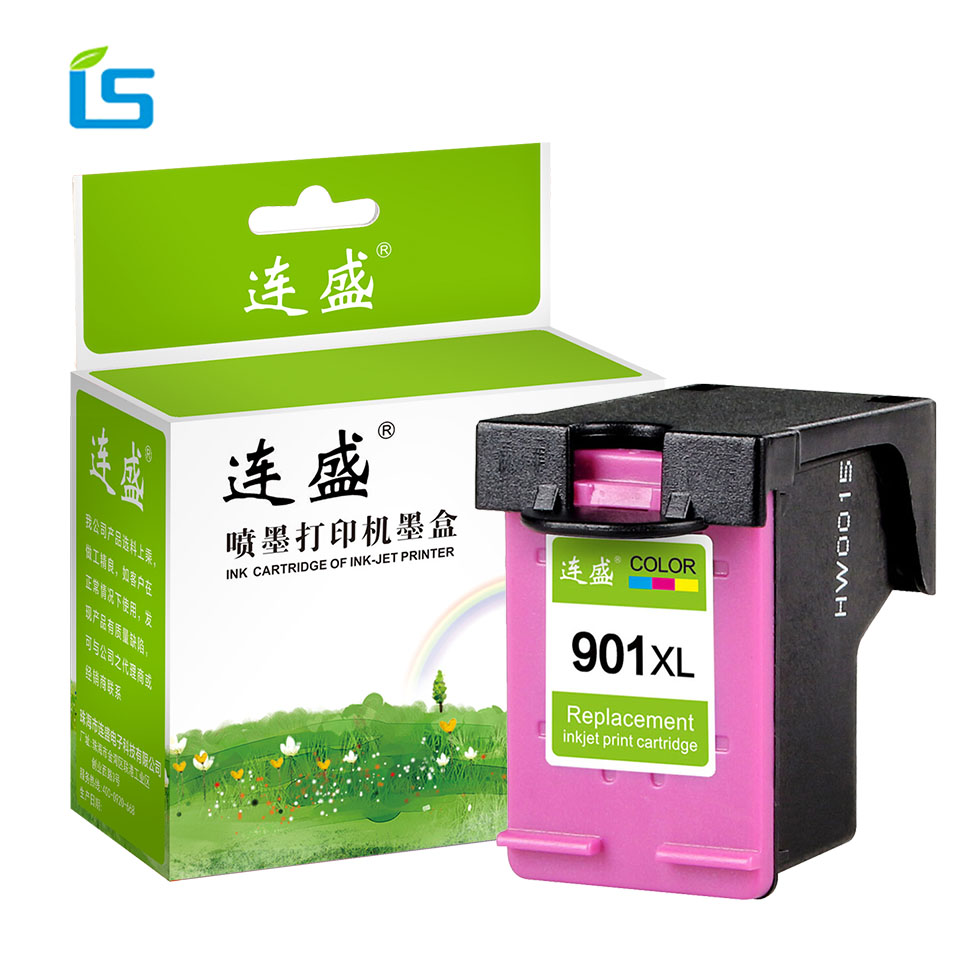 1Pcs 901XL Refilled Ink Cartridge Replacement For hp 901 XL color compatible for HP Printer 4500 J4524 J4530 J4540 J4550 J4580 cmyk supplies compatible ink cartridge replacement for hp 901 hp 901xl 4500 j4580 j4550 j4540 4500 j4680 j4524 j4535 j4585 j4624