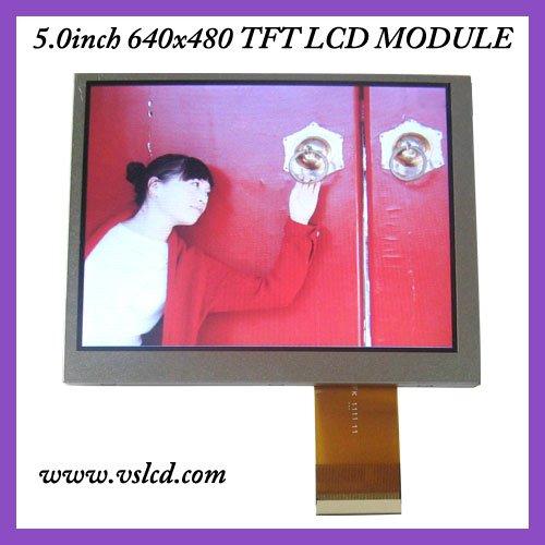 5inch tft lcd display LCM zj050na-08c  640x480 resolution  led backlight color tft