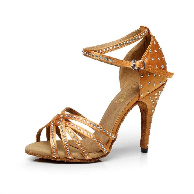 Chaussure de danse latine Standard diamant Satin dames aérobic femmes chaussure adulte Social danse sport chaussure fille baskets réductions