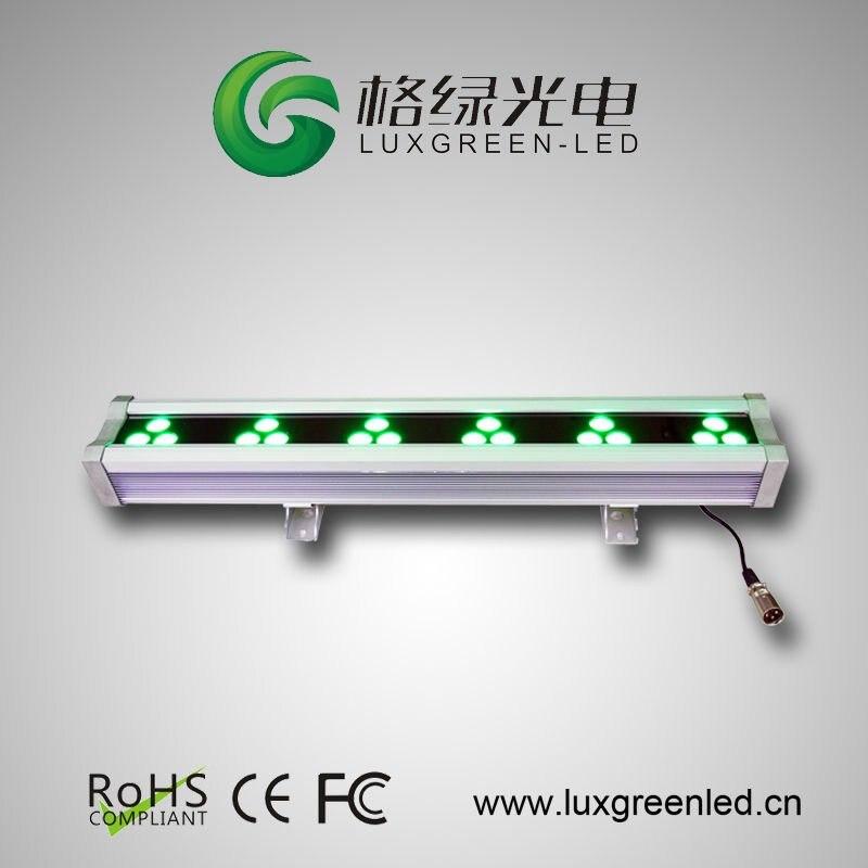 IP65 18x3W RGB 3in1 Multi-row LED Wall Washer with DMX Controller dmx512 digital display 24ch dmx address controller dc5v 24v each ch max 3a 8 groups rgb controller